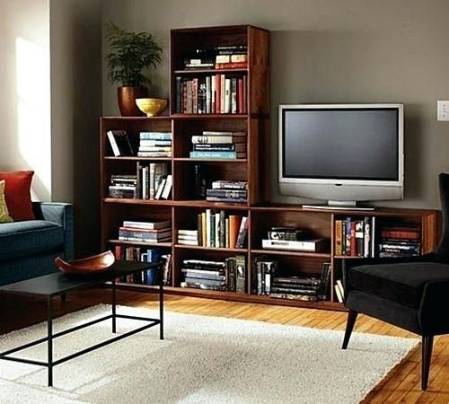 Living Room Bookcase Tv Stand With Matching Bookcases Bookshelf For Most Recent Tv Stands With