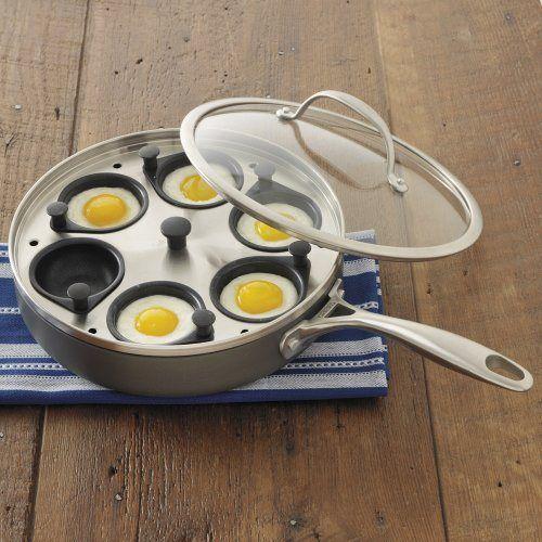 CHEFS Hard Anodized Egg Poacher Pan - http://sleepychef.com/chefs-hard-anodized-egg-poacher-pan/