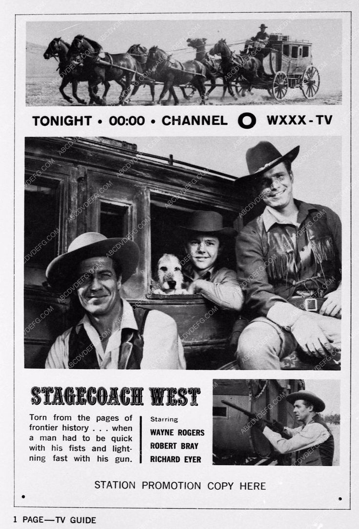 photo ad slick Wayne Rogers Robert Bray Stagecoach West 3110-29