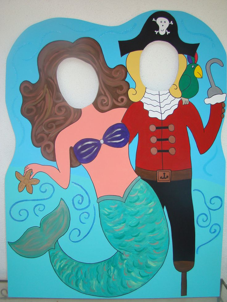 My Little Mermaid and Pirate Photo Prop & Event Decoration Sea Life Listing. via Etsy.