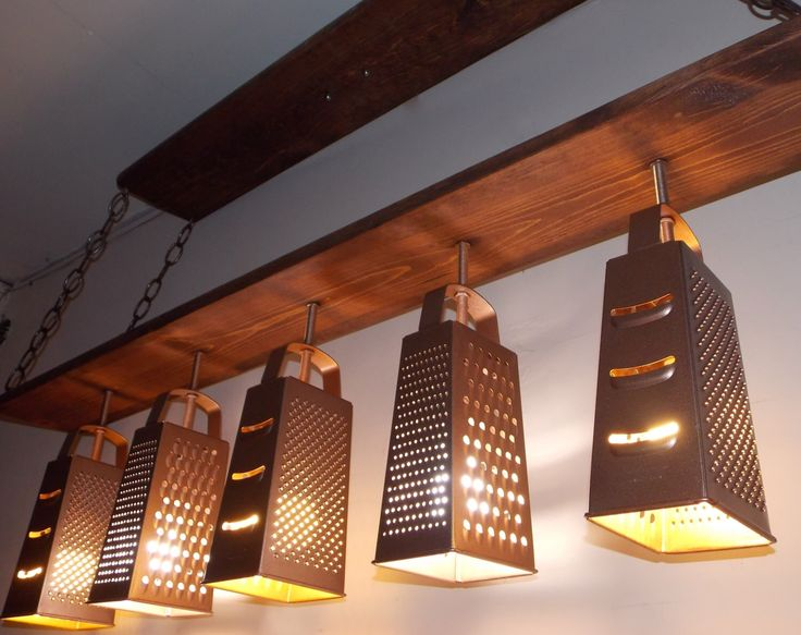 Farmhouse Lighting - Grater Chandelier - Modern Ceiling Light - Industrial Chandelier - Dining Fixture - Grater Light by IWantThattt on Etsy https://www.etsy.com/listing/266072801/farmhouse-lighting-grater-chandelier