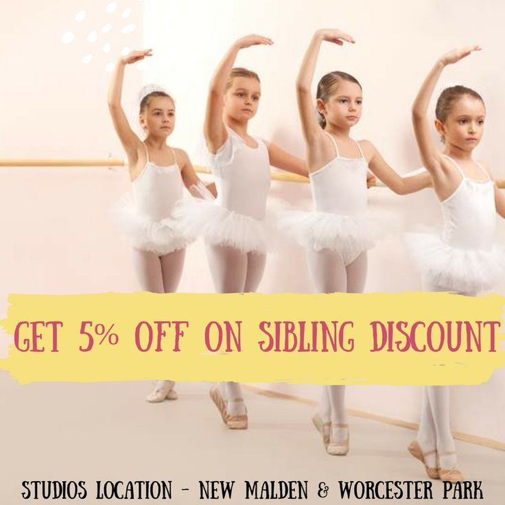 Get sibling discount of 5% only at Prima Dance Academy. Our new Studio Locations : New Malden & Worcester Park.  Sign up now : https://www.prima.dance/   #Danceclassesforkidsnearme #balletschoolinWorcesterPark #professionaldanceclasses  #ballettraining #balletclassenearme