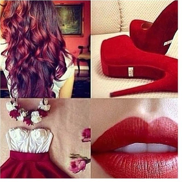 Lucy May's Fashion Blog: Red hair, Red lips, Red heels ....All in Red !!! A...