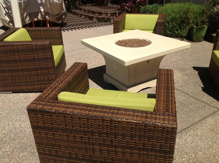 Ohana   Outdoor Patio Furniture. The Peridot (green) Color Looks So  Vibrant! It Compliments The Mixed Brown Wicker