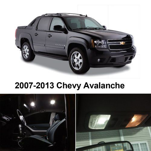 #Chevy AVALANCHE 2007-2013 Xenon White Premium LED Interior Lights Package Kit (10 Pieces) $22.49