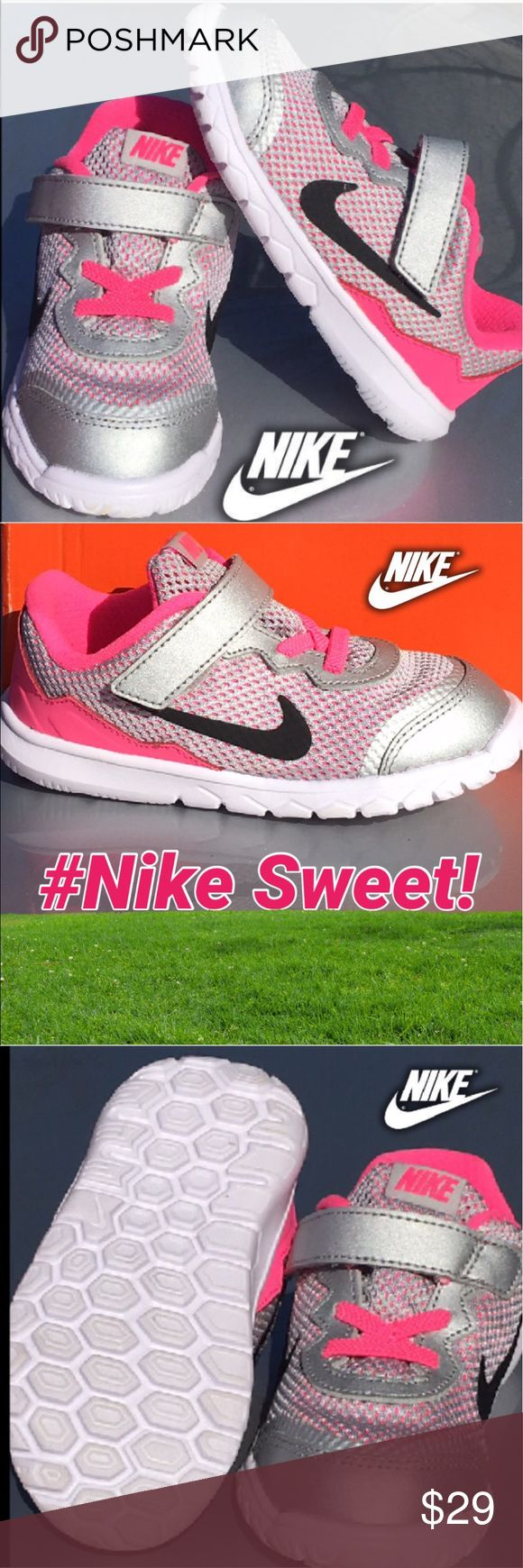 New Nike Toddler Girls Size 9💕💕💕 Cute New Nike toddler girls sneaker size 9.  Originally $49 now only $29 price is firm. The sneakers run about a half size small please keep that in mind when purchasing. 💕💕💕🛍🛍🛍🛍 Nike Shoes Sneakers