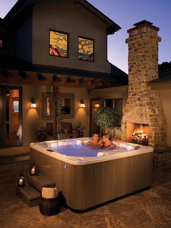 Make date plans in the #HotSpringSpas hot tub. Enjoy a hydromassage and take time to talk and take time to focus totally on each other. :)