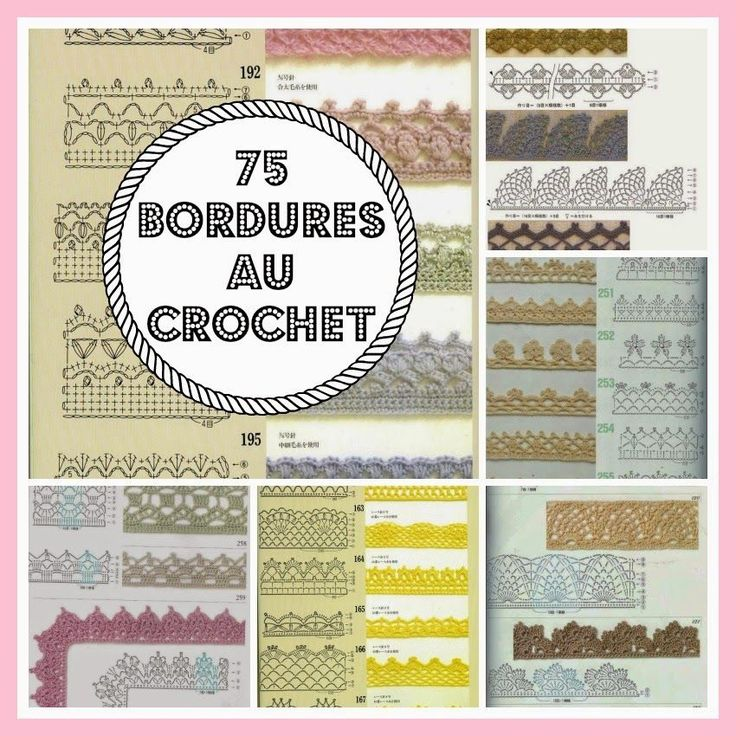 MES FAVORIS TRICOT-CROCHET: 75 bordures au crochet