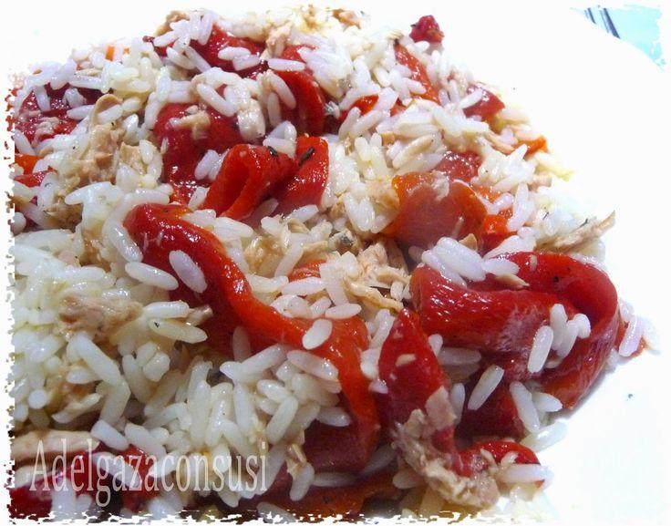 Adelgaza Con Susi: Ensalada templada de pimientos con arroz ( 330kcal)