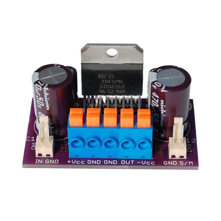Circuitul integrat TDA7294 este un amplificator audio de putere monolitic de înaltă performanţă al carui etaj final este construit în tehnologia DMOS şi care are integrate protecţii la suprasarcină şi scurtcircuit pe ieşire, protecţie la depăşirea temperaturii de cca. 145 grade C, dar şi funcţii de Stand-By şi Muting.