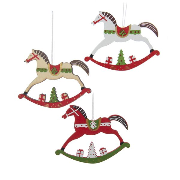 "4""WOODEN #HORSE ORNAMENTS #woodenhorse #rockinghorse"