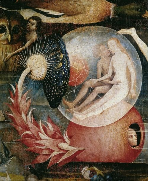 speechless. no words. ok some...    Garden of Earthly Delights (detail), Hieronymous Bosch, circa 1500