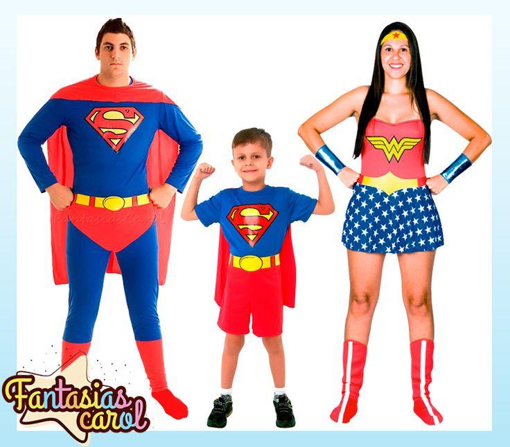 Fantasias para pular o #Carnaval em família é na Fantasias Carol!  Superman Adulto -> http://www.fantasiascarol.com.br/prod,idloja,25984,idproduto,4510125,festa-a-fantasia-adulto-fantasia-masculina-adulto-fantasia-super-homem---superman-adulto-sulamericana  Superman Infantil -> http://www.fantasiascarol.com.br/prod,idloja,25984,idproduto,4381677,fantasia-infantil-super-herois-fantasia-super-homem-superman-infantil-classico-curta  Mulher Maravilha -> http://www.fantasiascarol.com.br/prod,id