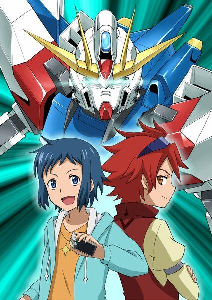 Sei Iori & Reiji with Build Strike Gundam