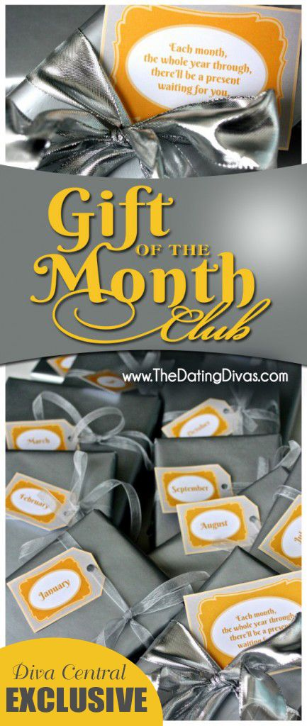 This is genius!  A gift that gives all year long.  I LOVE that you can totally customize it to fit whoever you're giving it to!  My hubby would love the 'Movie of the Month Club!'  www.TheDatingDivas.com #diy #christmas #gift