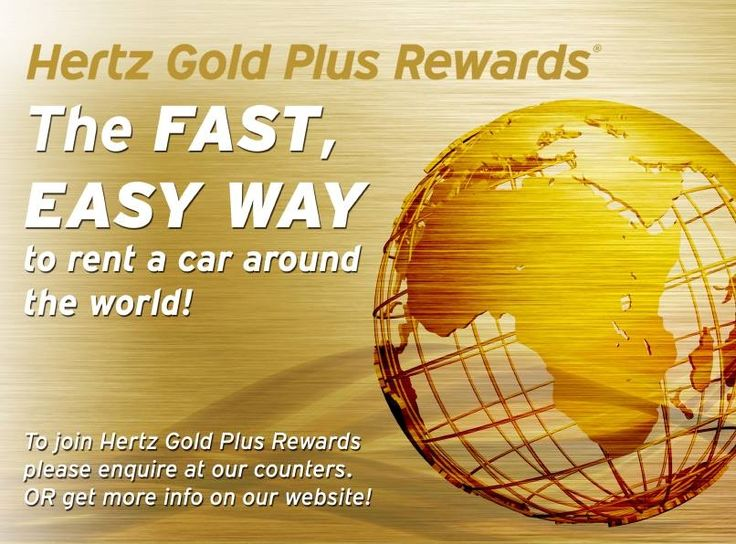 Find out more about our stunning Gold Plus Rewards - the fast and easy way to rent a car around the world! Just visit  https://www.hertz.co.za/club.html