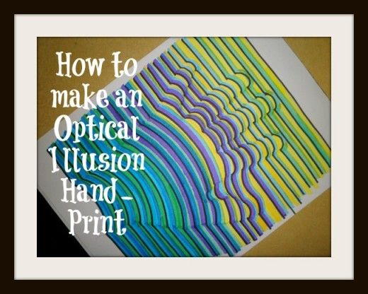 art lesson how to draw a hand print in 3 dimensional colors illusions colors and how to draw. Black Bedroom Furniture Sets. Home Design Ideas