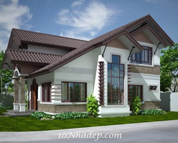 Các mẫu nhà 2 tầng mái thái đẹp, hiện đại được ưa chuộng nhất hiện nay. Chắc chắn sẽ giúp bạn có ý tưởng cho căn nhà 2 tầng mái thái mơ ước của gia đình.