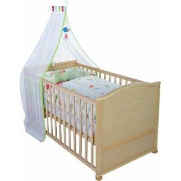 Ensemble Lit bébé complet 70x140 cm avec parure lit