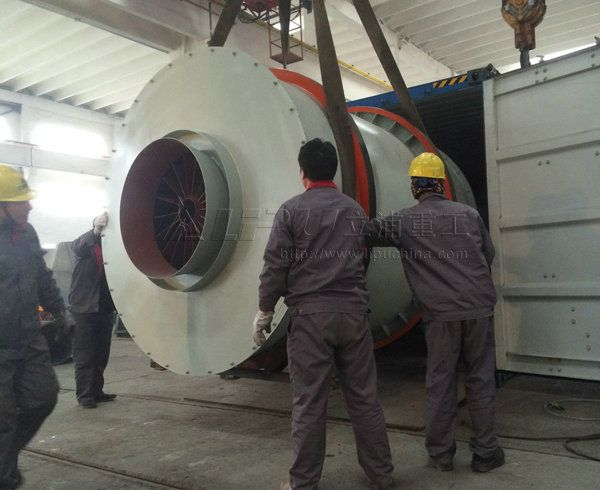 2.0X2.5m three cylinder rotary dryer for calcium carbonate