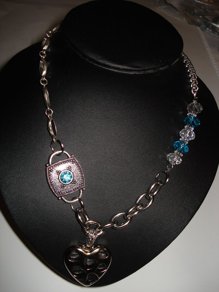 Heart Pendant with Crystal Choker