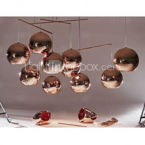 Hängande minitaklampa, 1 lampa, minimalistiskt galvaniserad metall - SEK Kr. 356