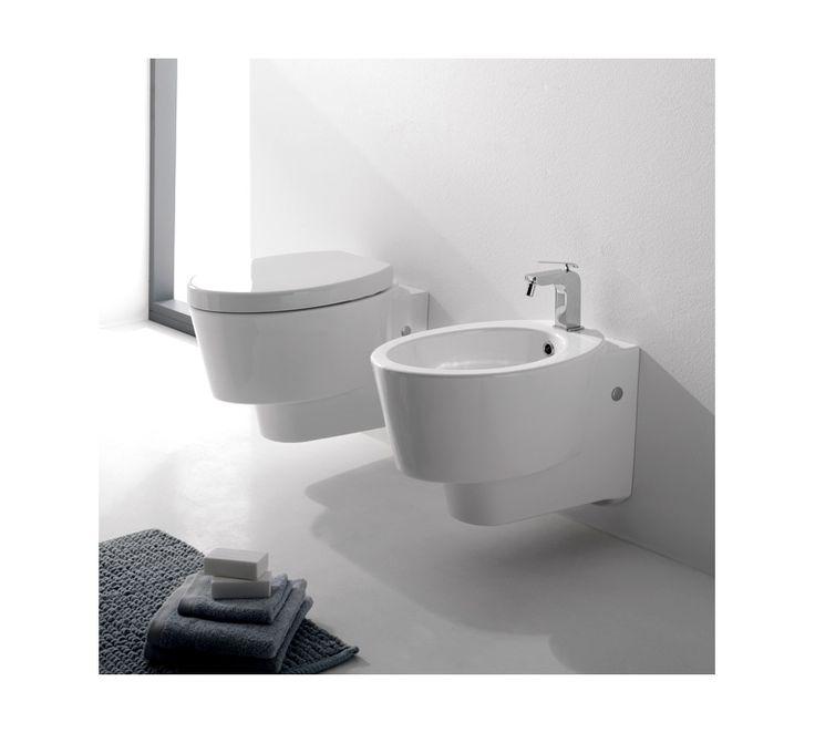 2006 Scarabeo  Scarabeo Wish Vegghengt toalett 570x350 mm, Hvit