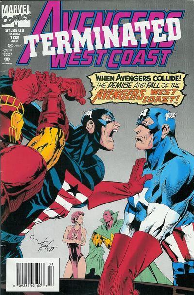 Avengers West Coast # 102 by Dave Ross & Tim Dzon