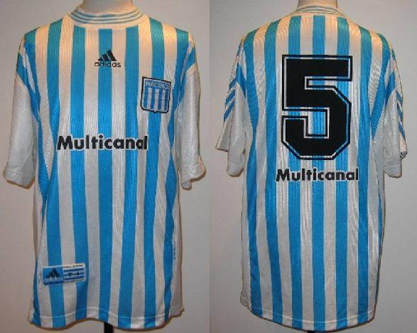 Racing Club Home football shirt 1998 - 1999  cf81a3d32c454