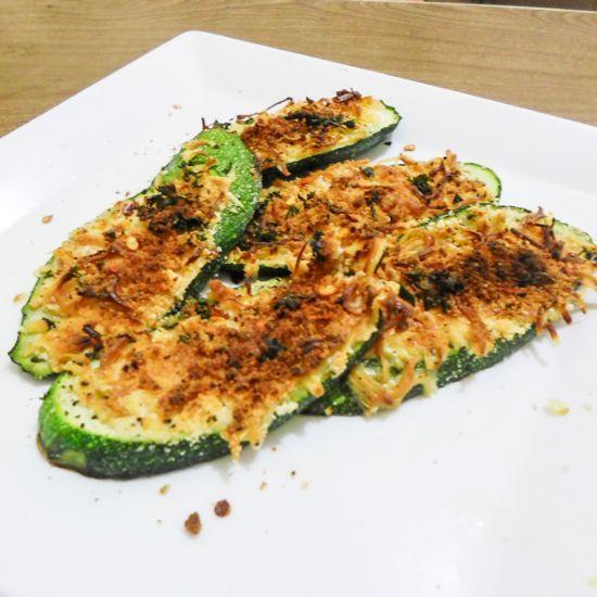#Healthy dinner idea! Crispy zucchini parmesan bites recipe
