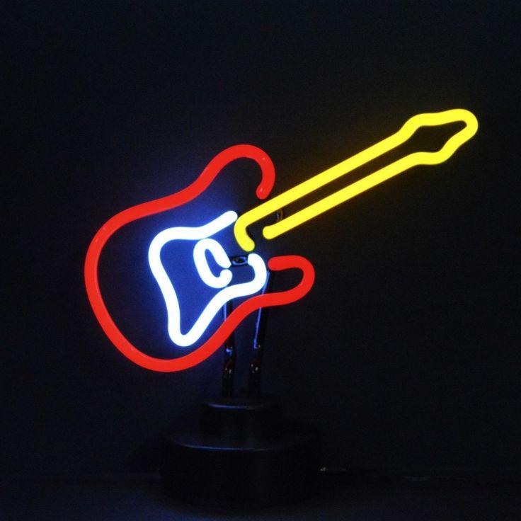 Neon Sculptures - Electric Guitar Neon Sculpture