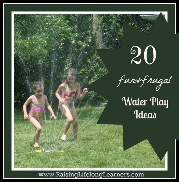 20 fun and frugal water play ideas via www.RaisingLifelongLearners.com