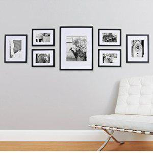 Pinnacle-11FW1443-Black-7-piece-Solid-Wood-Wall-Frame-Kit-0