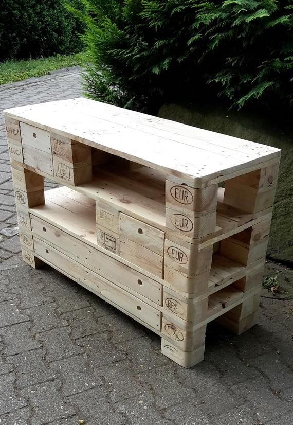 Xxl Sideboard Tv Cabinet Made Of Pallets Pallet Furniture Sideboard Tv Cabinet Pallet Furniture Tv Sideboard