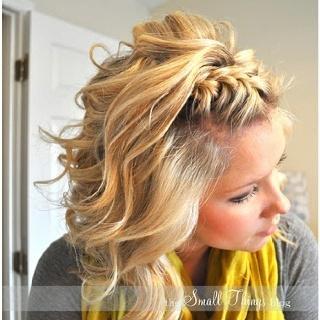 Love the braided bangs