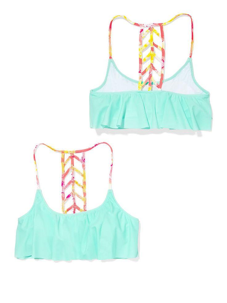 Victoria's Secret PINK Ladder-Back Flounce Top