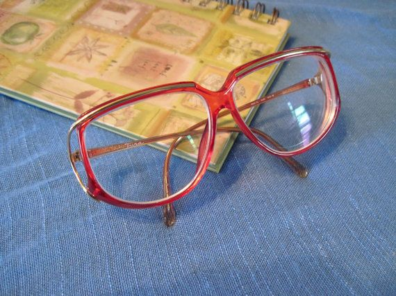 Vintage 70s Tura Womens Red Eyeglasses Frames, Made in ...