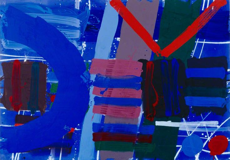 Blue Anchor, by Albert Irvin, Date painted: 1989 Acrylic on canvas