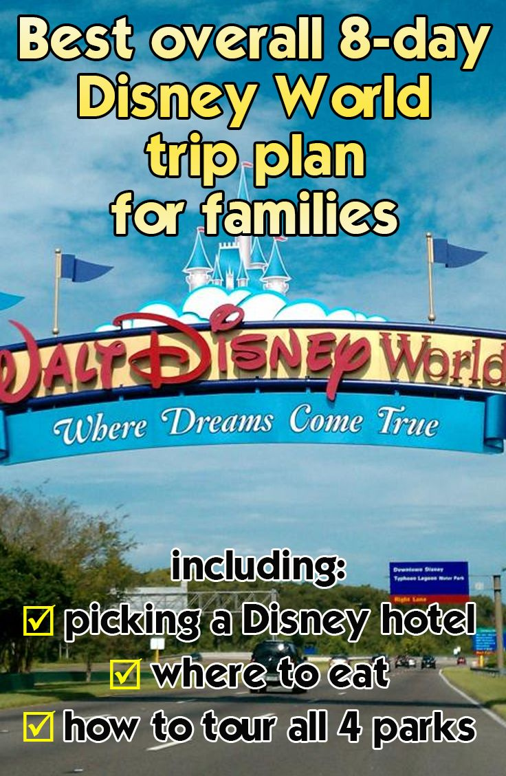 My best overall 8-day general Disney World trip plan for families