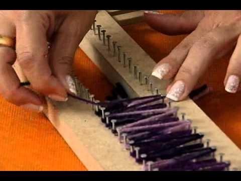 Artesanato - Cachecol em tear - YouTube
