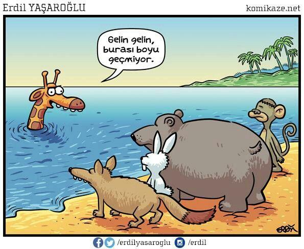 Gelin gelin, burası boyu geçmiyor.  #karikatür #mizah #matrak #komik #espri