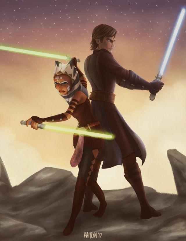 Ahsoka Tano and Anakin Skywalker | Star wars pictures