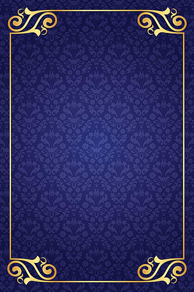 European Pattern Blue Background In 2020 Flower