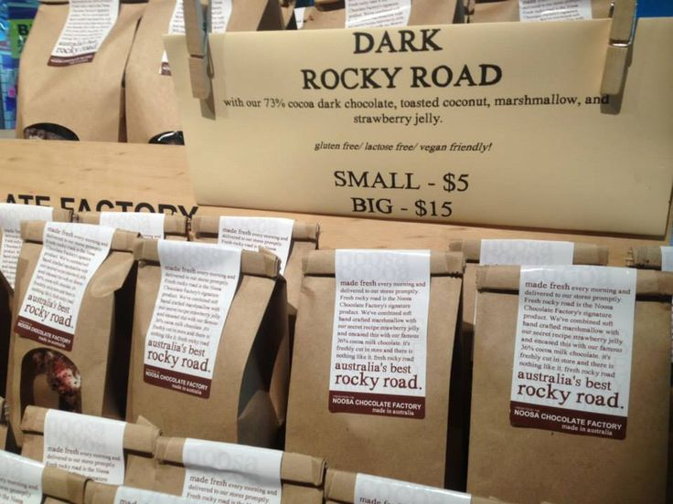 Rocky Road, available from Noosa Chocolate Factory and Starr Hampers. Delicious!