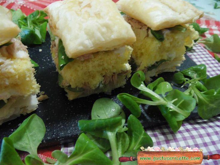Diplomatici salati tonno e valeriana - Gustose ricette di cucina