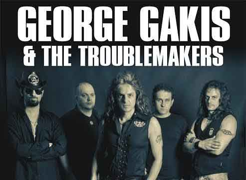 George Gakis joins us again on stage at Agiotfest - but this time with his own band - The Troublemakers.  Let's Rock n Roll!