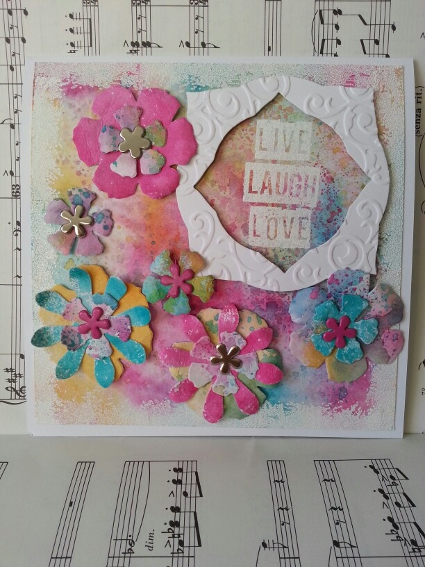 Inspired by July 2013 Craft Stamper magazine using their free stamp