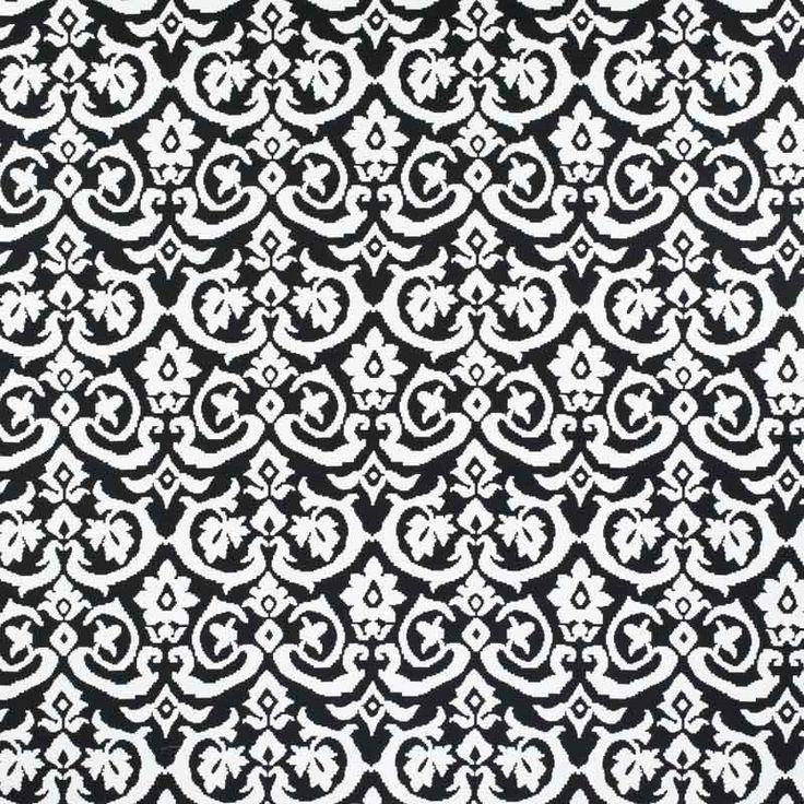 Monochrome Collection, Warwick Fabrics : COHEN / Black and White
