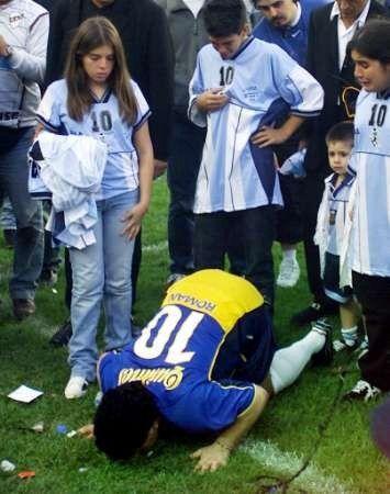 Diego despedida en la Cancha de Boca Juniors...