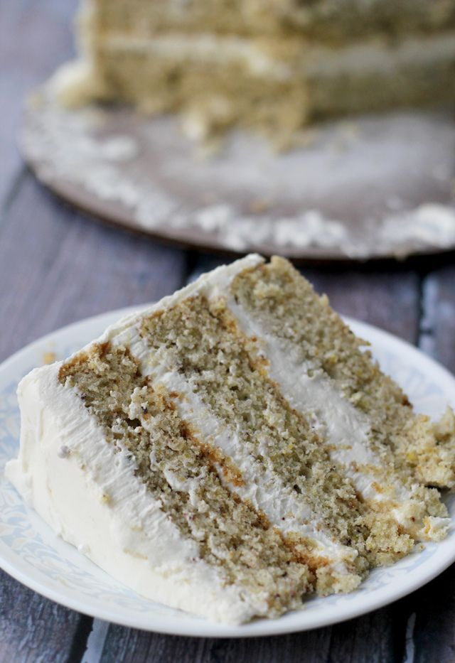 Pistachio cake with honey vanilla buttercream (maybe make as cupcakes)